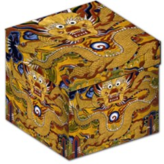 Chinese Dragon Pattern Storage Stool 12