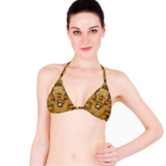 Chinese Dragon Pattern Bikini Top