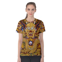Chinese Dragon Pattern Women s Cotton Tee
