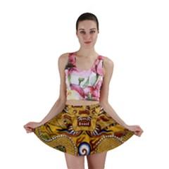 Chinese Dragon Pattern Mini Skirt