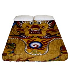 Chinese Dragon Pattern Fitted Sheet (queen Size)