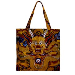 Chinese Dragon Pattern Zipper Grocery Tote Bag