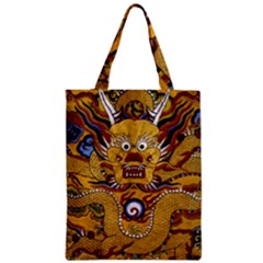 Chinese Dragon Pattern Zipper Classic Tote Bag