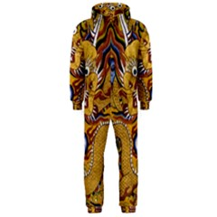 Chinese Dragon Pattern Hooded Jumpsuit (Men)