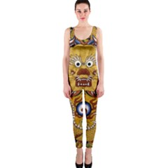 Chinese Dragon Pattern Onepiece Catsuit