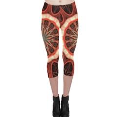 Circle Pattern Capri Leggings