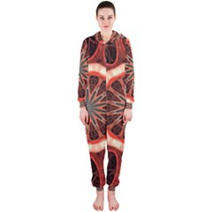 Circle Pattern Hooded Jumpsuit (Ladies)