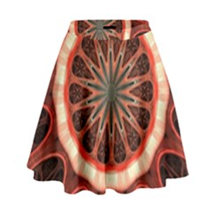 Circle Pattern High Waist Skirt