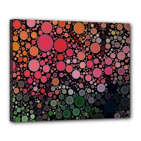 Circle Abstract Canvas 20  x 16