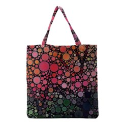 Circle Abstract Grocery Tote Bag