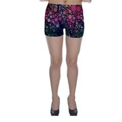 Circle Abstract Skinny Shorts