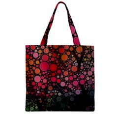 Circle Abstract Zipper Grocery Tote Bag