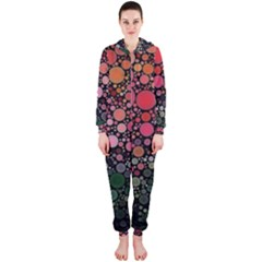 Circle Abstract Hooded Jumpsuit (ladies)