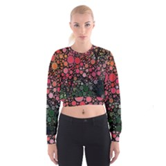 Circle Abstract Women s Cropped Sweatshirt