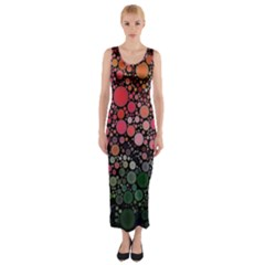 Circle Abstract Fitted Maxi Dress