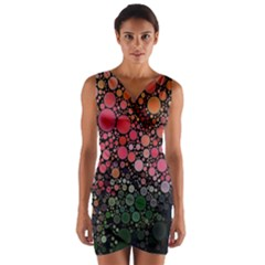 Circle Abstract Wrap Front Bodycon Dress