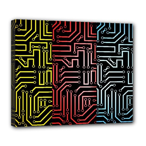Circuit Board Seamless Patterns Set Deluxe Canvas 24  X 20