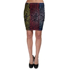 Circuit Board Seamless Patterns Set Bodycon Skirt