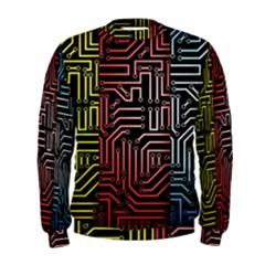 Circuit Board Seamless Patterns Set Men s Sweatshirt