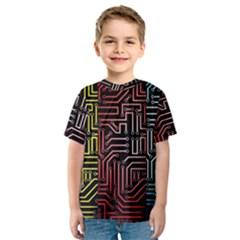 Circuit Board Seamless Patterns Set Kids  Sport Mesh Tee