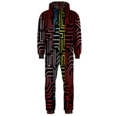 Circuit Board Seamless Patterns Set Hooded Jumpsuit (men)