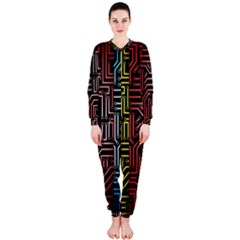 Circuit Board Seamless Patterns Set Onepiece Jumpsuit (ladies)