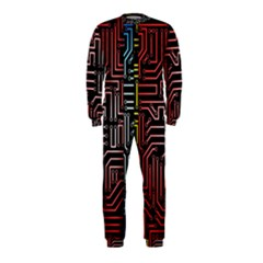 Circuit Board Seamless Patterns Set OnePiece Jumpsuit (Kids)