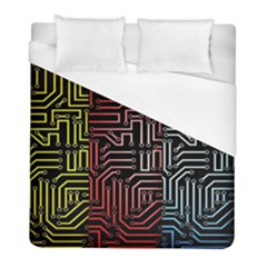 Circuit Board Seamless Patterns Set Duvet Cover (full/ Double Size)