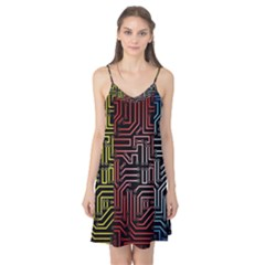 Circuit Board Seamless Patterns Set Camis Nightgown