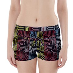 Circuit Board Seamless Patterns Set Boyleg Bikini Wrap Bottoms