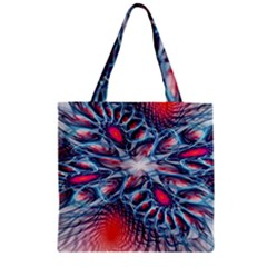 Creative Abstract Zipper Grocery Tote Bag