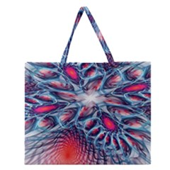 Creative Abstract Zipper Large Tote Bag