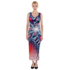 Creative Abstract Fitted Maxi Dress