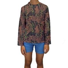 Digital Camouflage Kids  Long Sleeve Swimwear