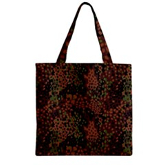 Digital Camouflage Zipper Grocery Tote Bag