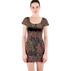 Digital Camouflage Short Sleeve Bodycon Dress