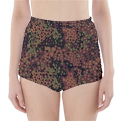 Digital Camouflage High-Waisted Bikini Bottoms
