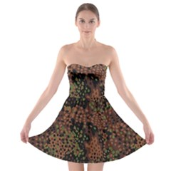 Digital Camouflage Strapless Bra Top Dress