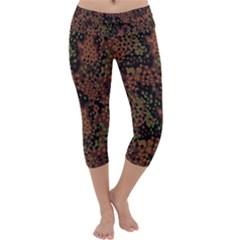 Digital Camouflage Capri Yoga Leggings