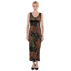 Digital Camouflage Fitted Maxi Dress