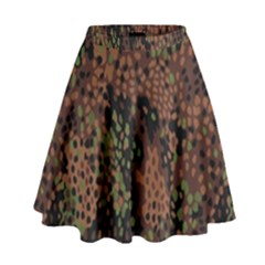 Digital Camouflage High Waist Skirt