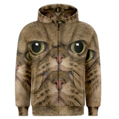 Cute Persian Cat Face In Closeup Men s Zipper Hoodie