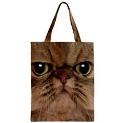 Cute Persian Cat Face In Closeup Zipper Classic Tote Bag