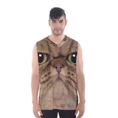 Cute Persian Cat face In Closeup Men s Basketball Tank Top