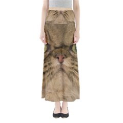Cute Persian Cat Face In Closeup Maxi Skirts