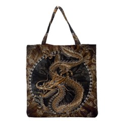 Dragon Pentagram Grocery Tote Bag
