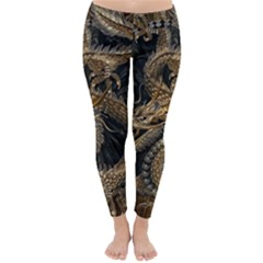 Dragon Pentagram Classic Winter Leggings