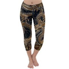 Dragon Pentagram Capri Winter Leggings