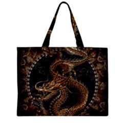 Dragon Pentagram Zipper Mini Tote Bag