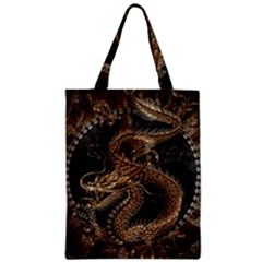 Dragon Pentagram Zipper Classic Tote Bag